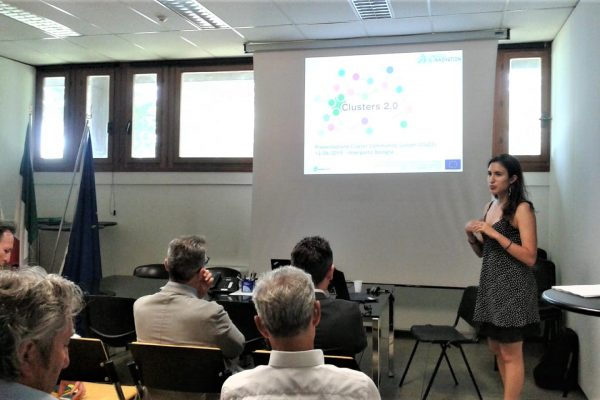 Alice Benini from IBI presenting Clusters 2.0 in Bologna, Italy.